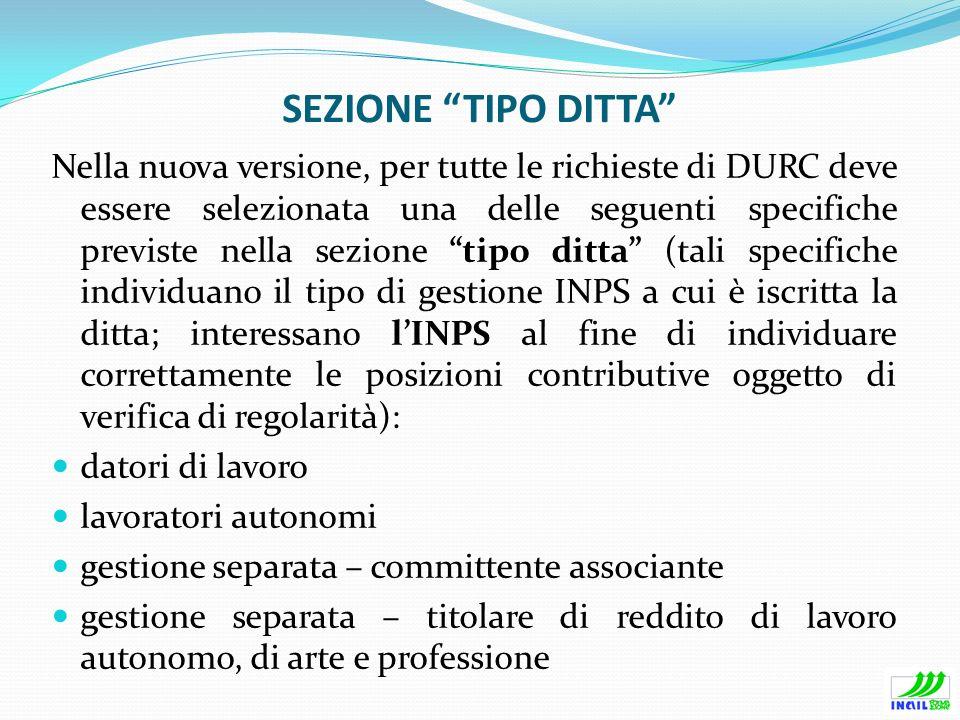 SEZIONE TIPO DITTA