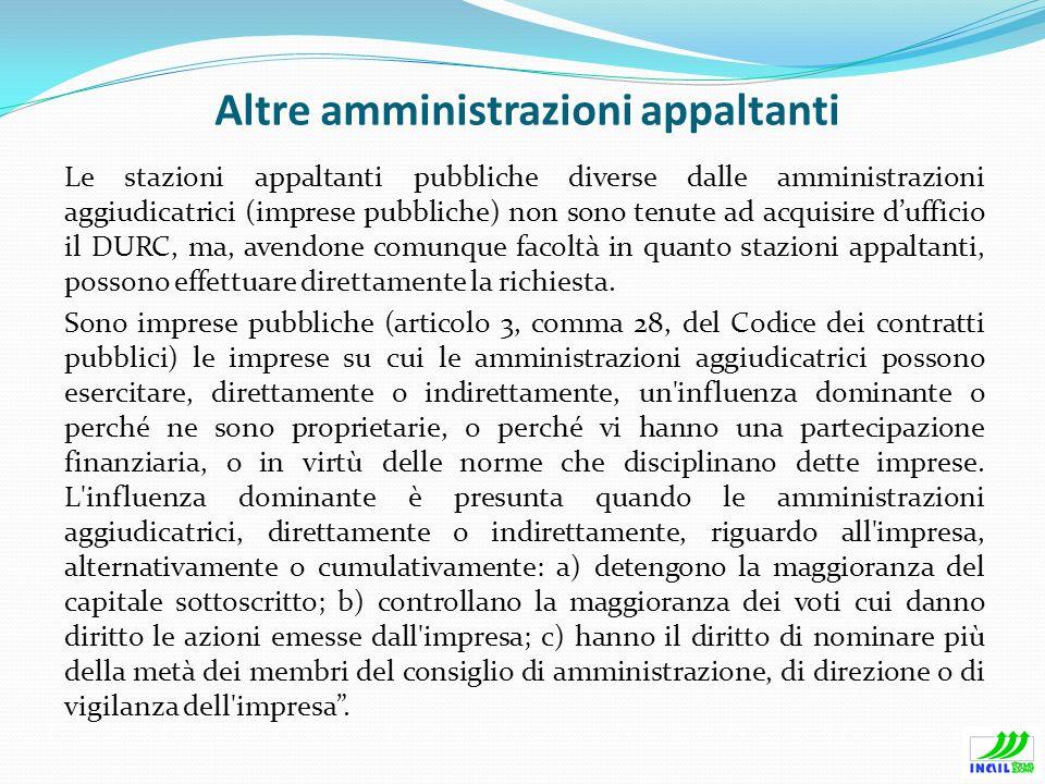 Altre amministrazioni appaltanti