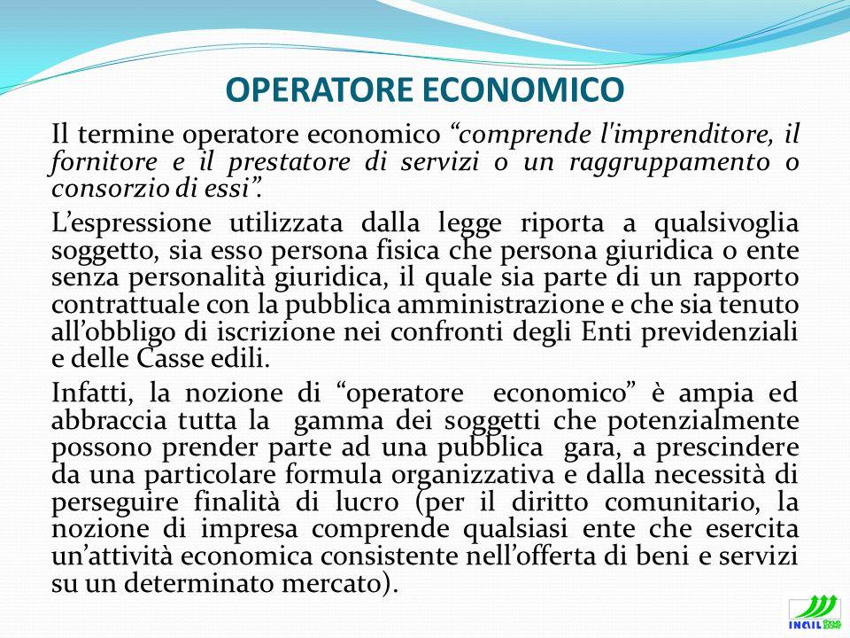 OPERATORE ECONOMICO