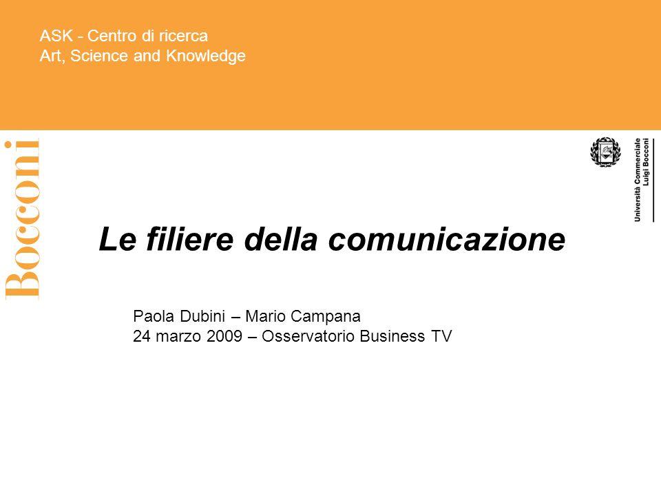 Le filiere della comunicazione