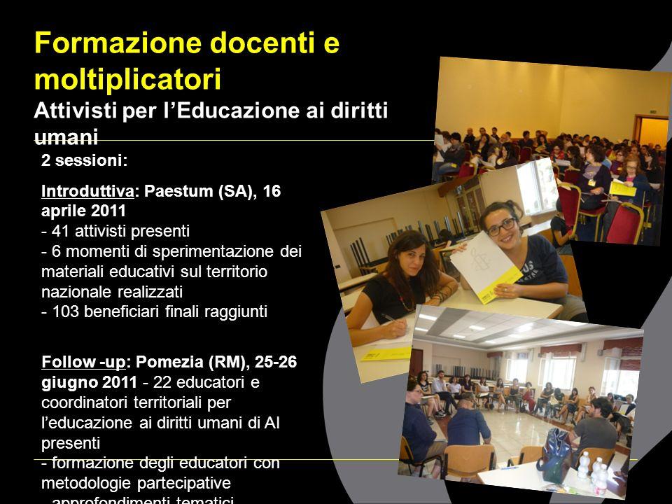 Formazione docenti e moltiplicatori Attivisti per l'Educazione ai diritti umani