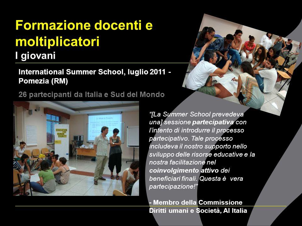 Formazione docenti e moltiplicatori I giovani