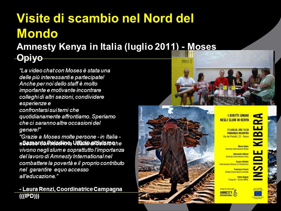 Visite di scambio nel Nord del Mondo Amnesty Kenya in Italia (luglio 2011) - Moses Opiyo