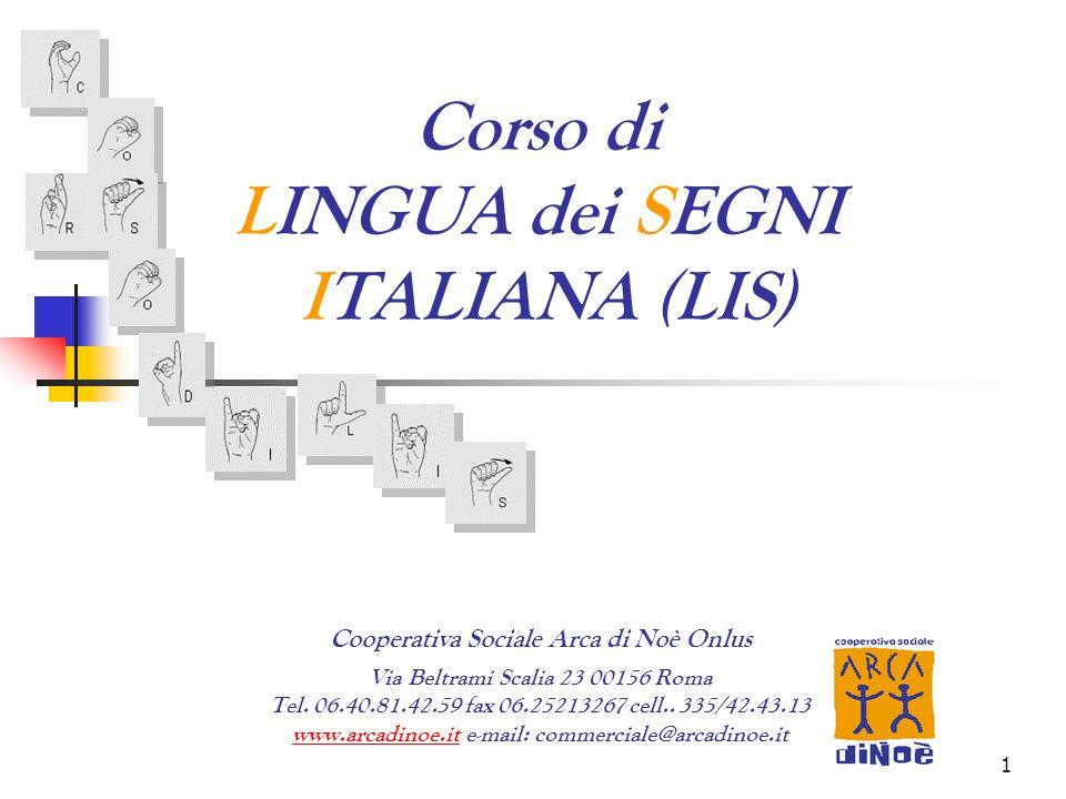 Corso di LINGUA dei SEGNI ITALIANA (LIS)