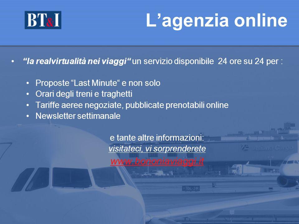 L'agenzia online www.bononiaviaggi.it