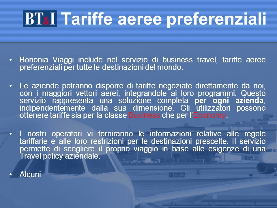 Tariffe aeree preferenziali