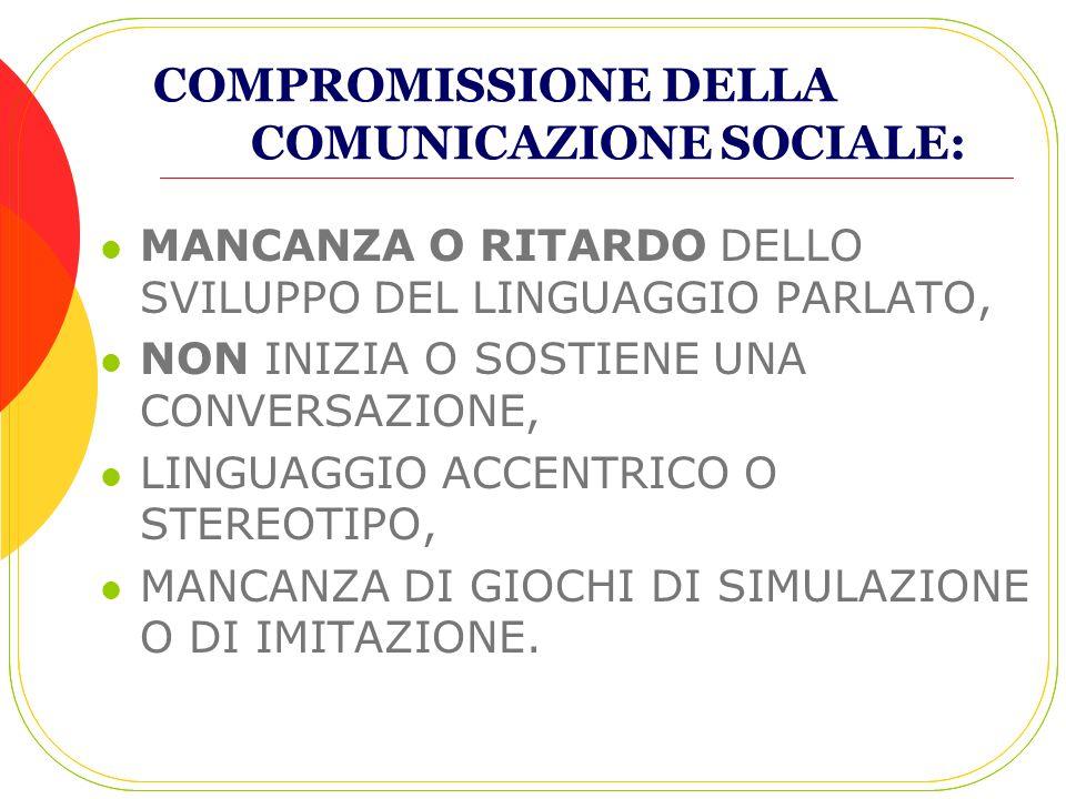 COMPROMISSIONE DELLA COMUNICAZIONE SOCIALE: