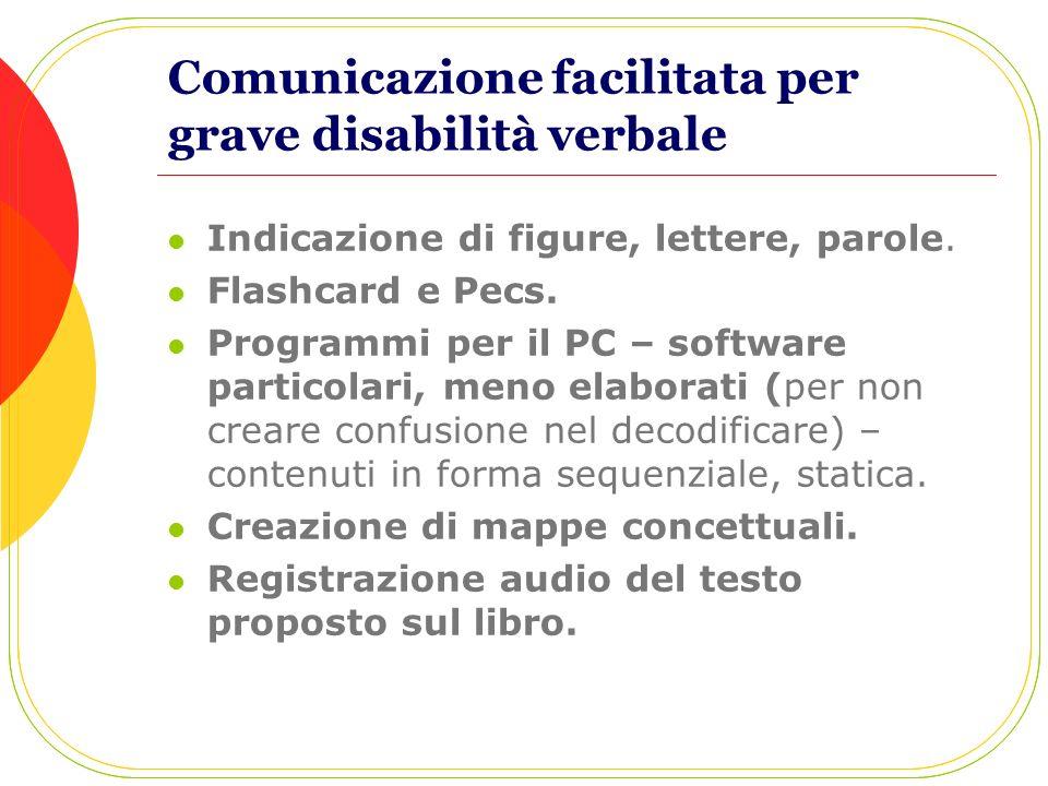 Comunicazione facilitata per grave disabilità verbale
