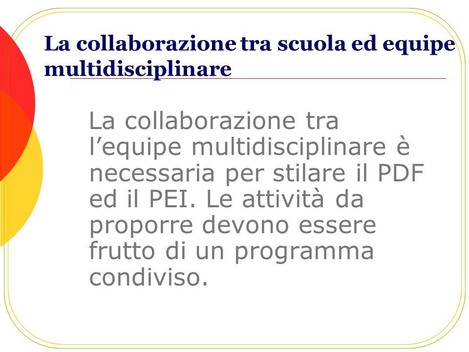 La collaborazione tra scuola ed equipe multidisciplinare