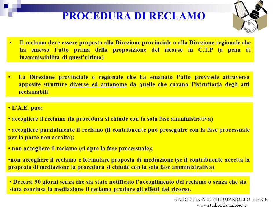 STUDIO LEGALE TRIBUTARIO LEO- LECCE-www.studiotributarioleo.it