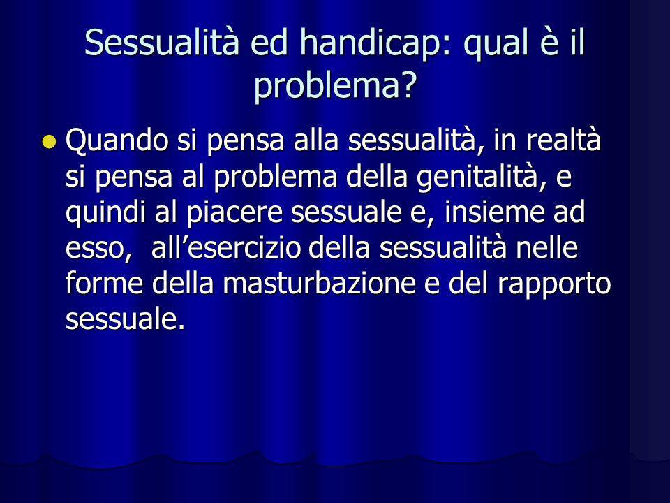 Sessualità ed handicap: qual è il problema