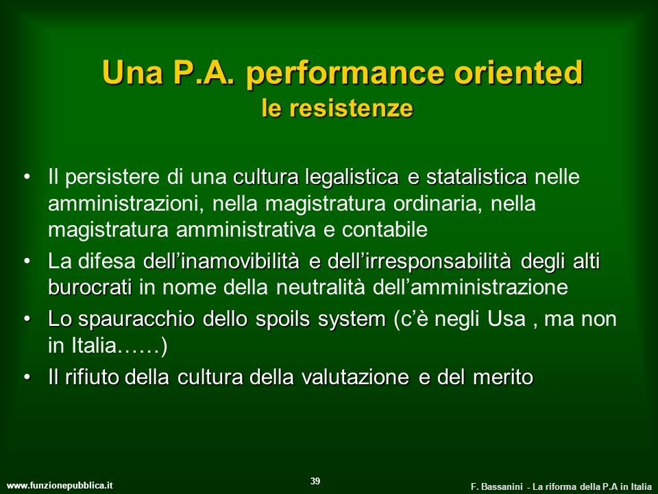 Una P.A. performance oriented le resistenze