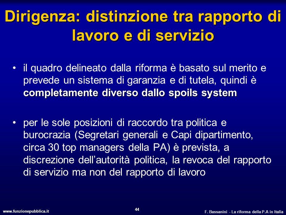 Dirigenza: distinzione tra rapporto di lavoro e di servizio