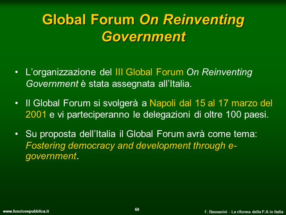Global Forum On Reinventing Government