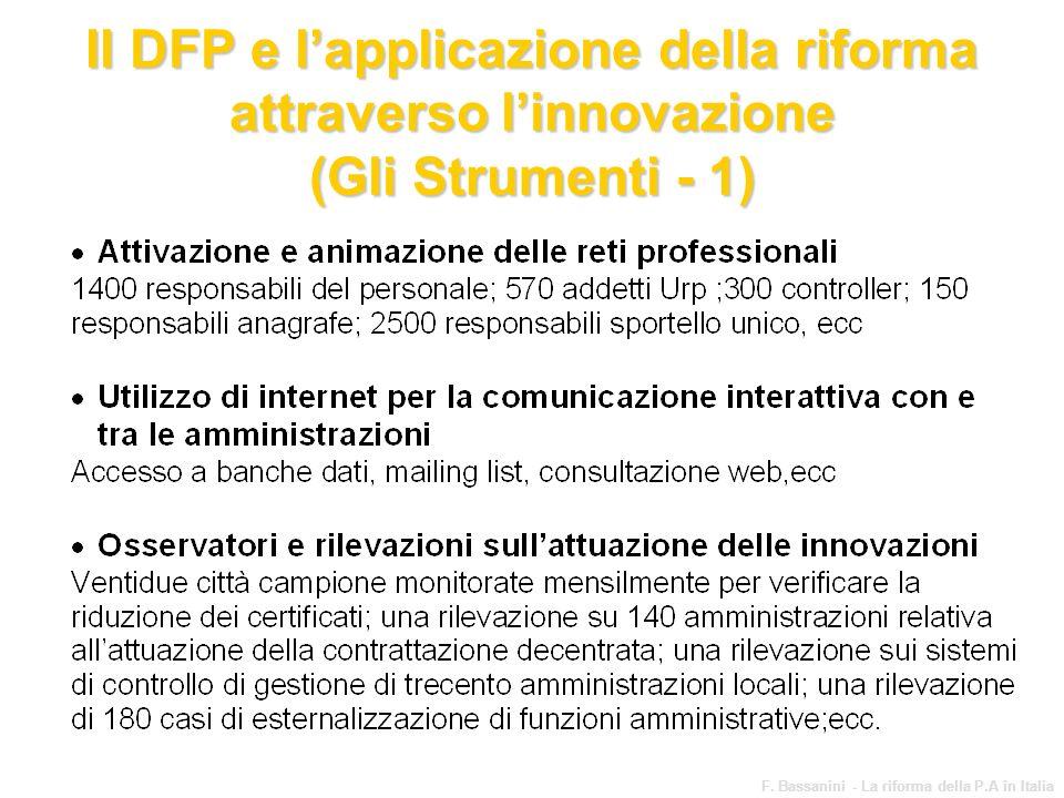 Il DFP e l'applicazione della riforma attraverso l'innovazione (Gli Strumenti - 1)