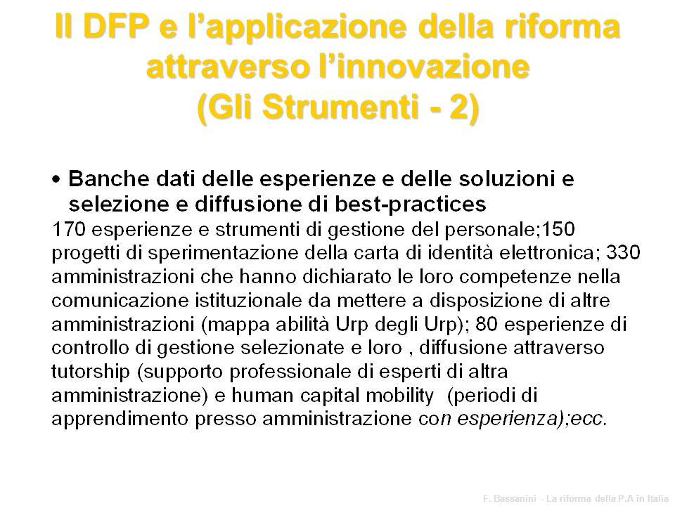 Il DFP e l'applicazione della riforma attraverso l'innovazione (Gli Strumenti - 2)