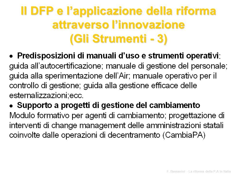 Il DFP e l'applicazione della riforma attraverso l'innovazione (Gli Strumenti - 3)