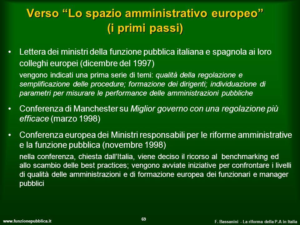 Verso Lo spazio amministrativo europeo (i primi passi)