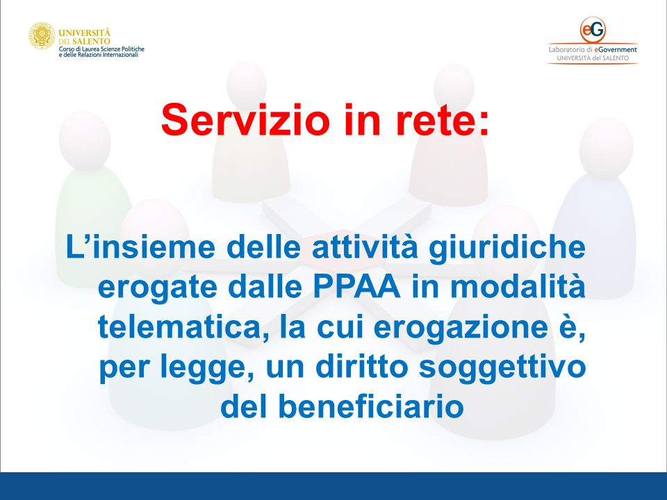 Servizio in rete:
