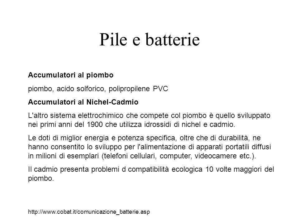 Pile e batterie Accumulatori al piombo