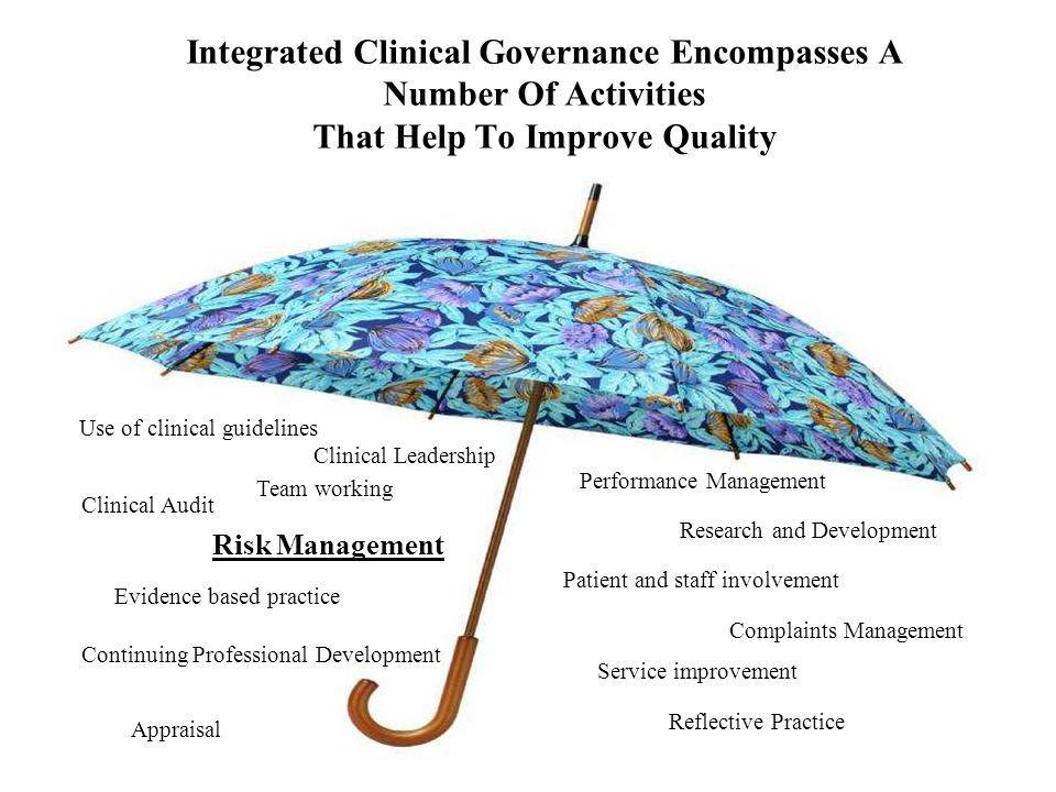 Integrated Clinical Governance Encompasses A Number Of Activities That Help To Improve Quality