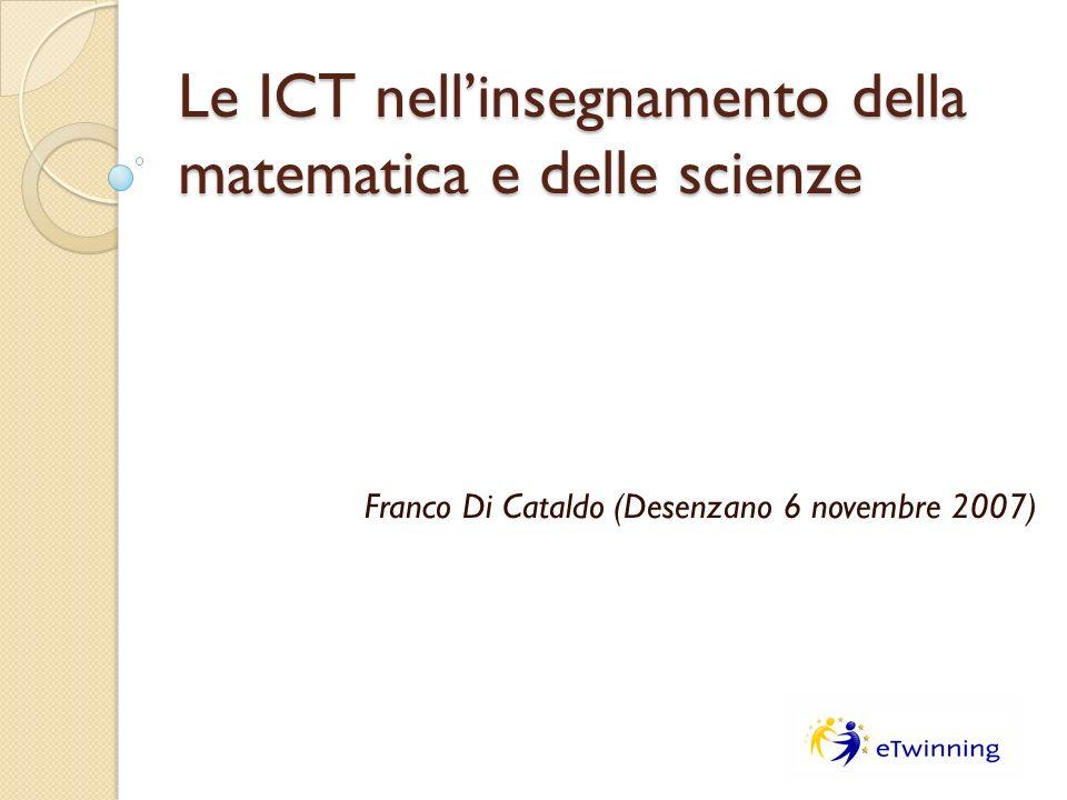 Le ICT nell'insegnamento della matematica e delle scienze