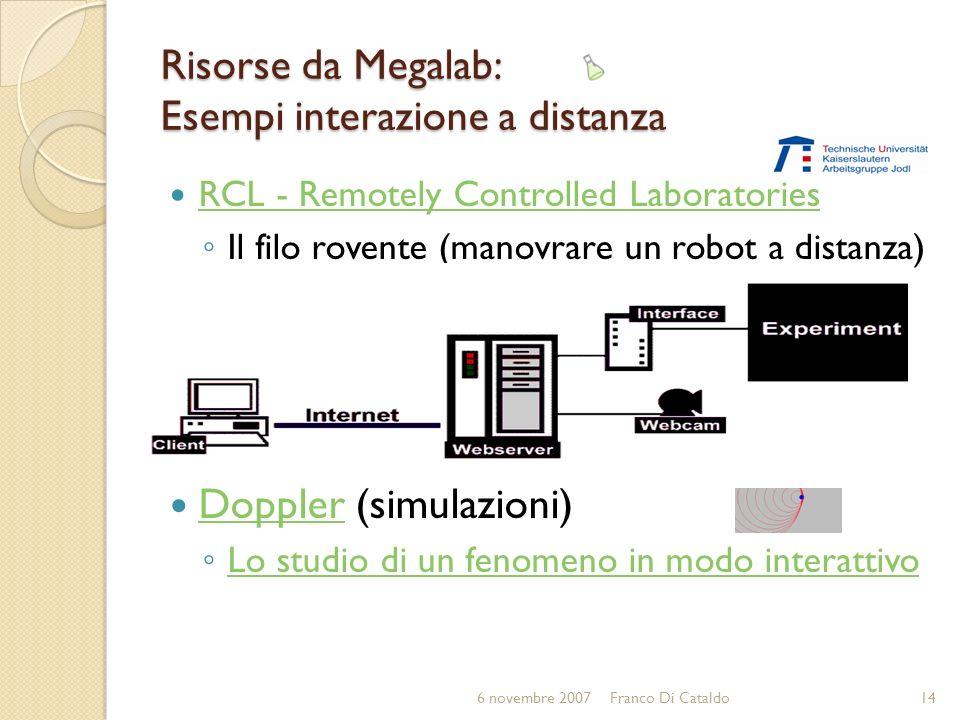 Risorse da Megalab: Esempi interazione a distanza