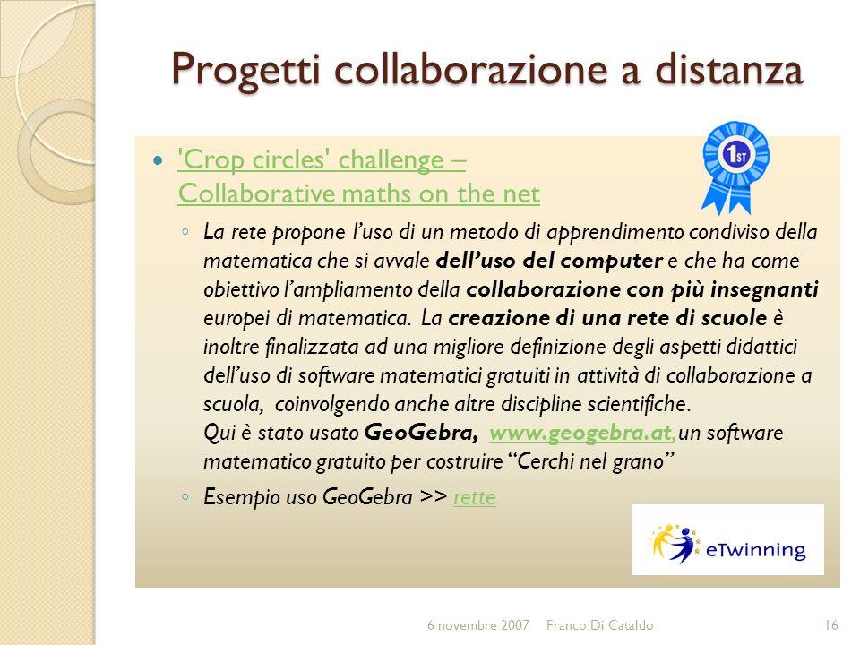 Progetti collaborazione a distanza