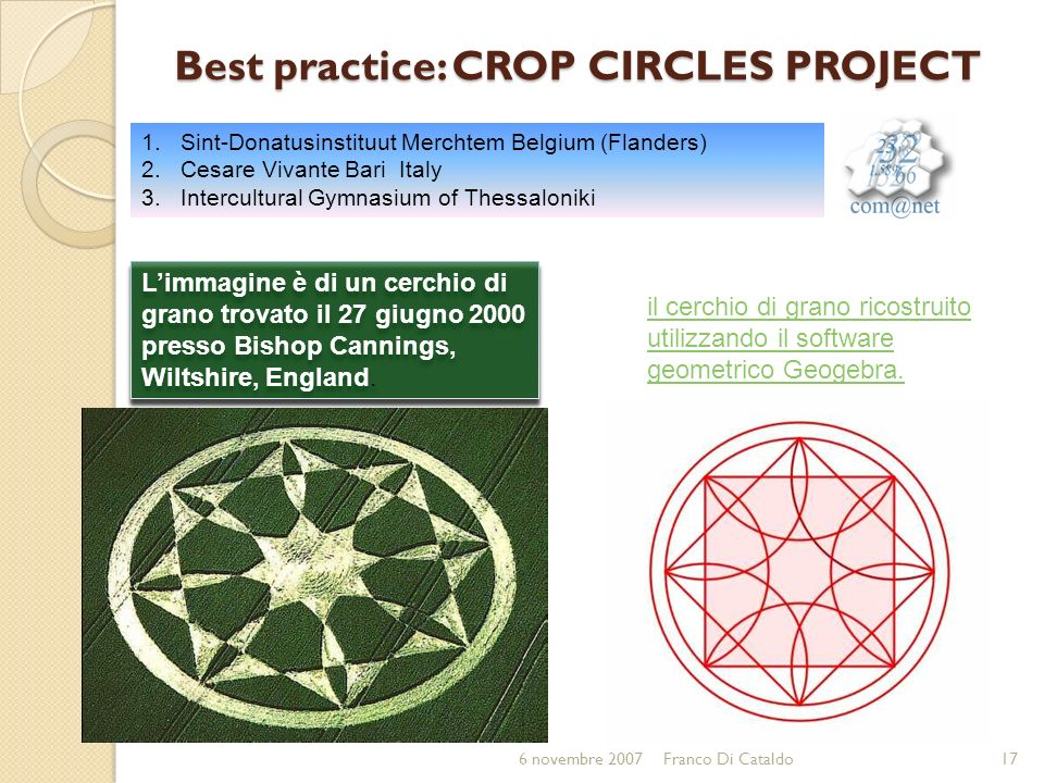Best practice: CROP CIRCLES PROJECT