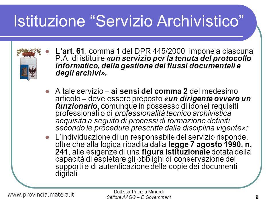Istituzione Servizio Archivistico