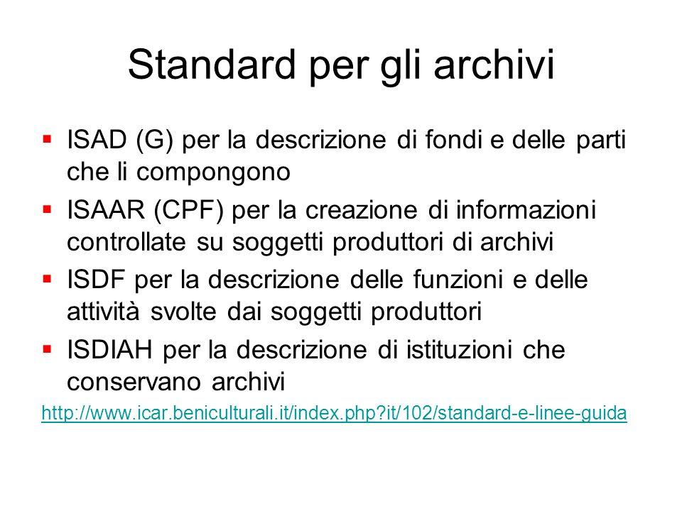 Standard per gli archivi
