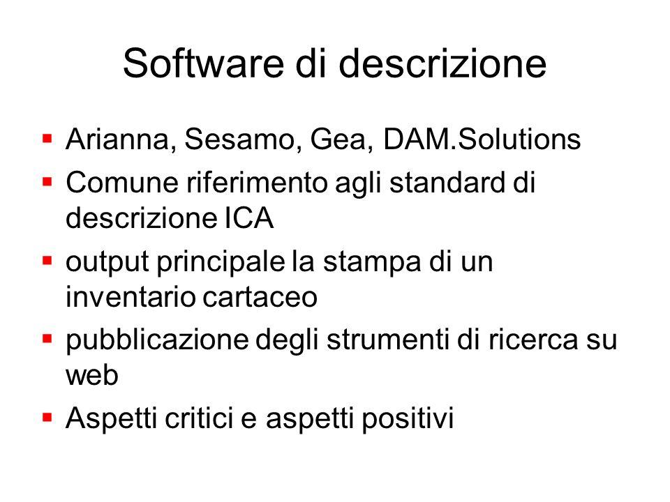 Software di descrizione