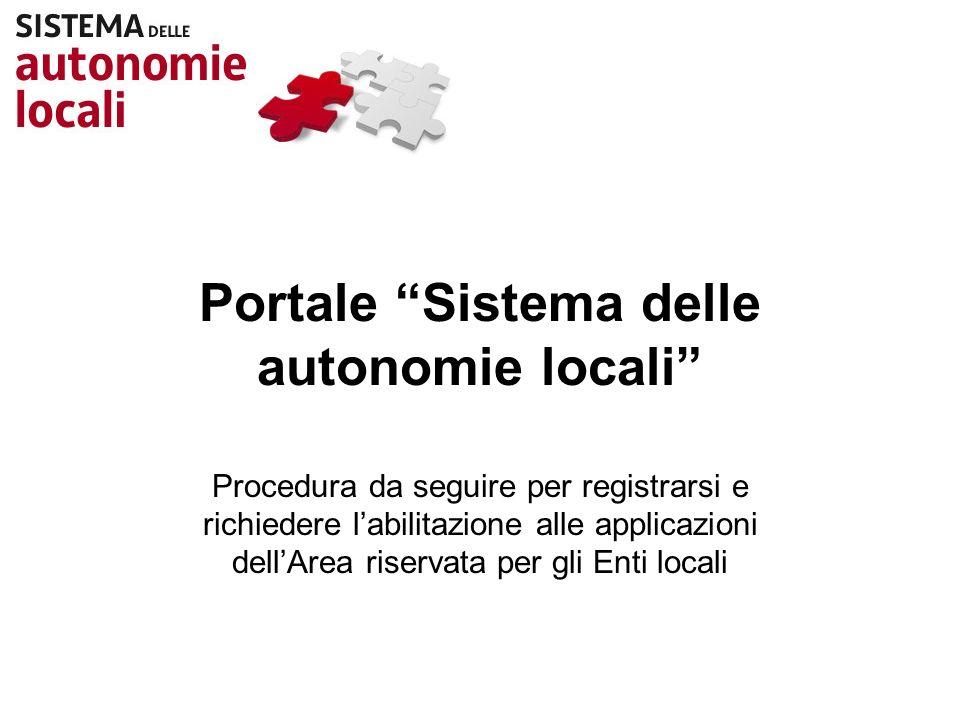 Portale Sistema delle autonomie locali
