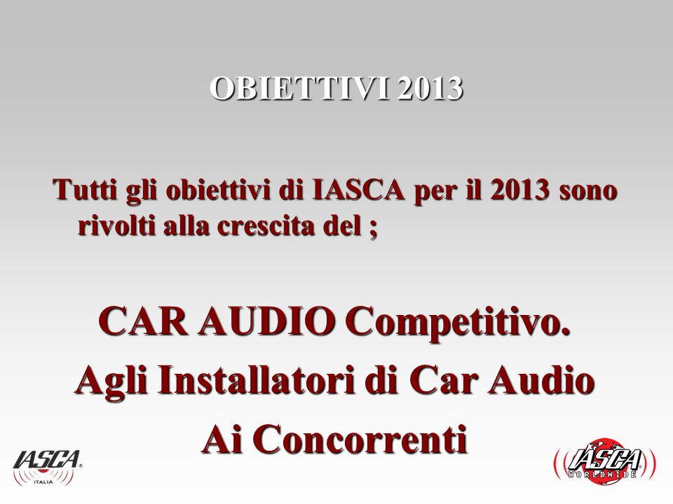 Agli Installatori di Car Audio