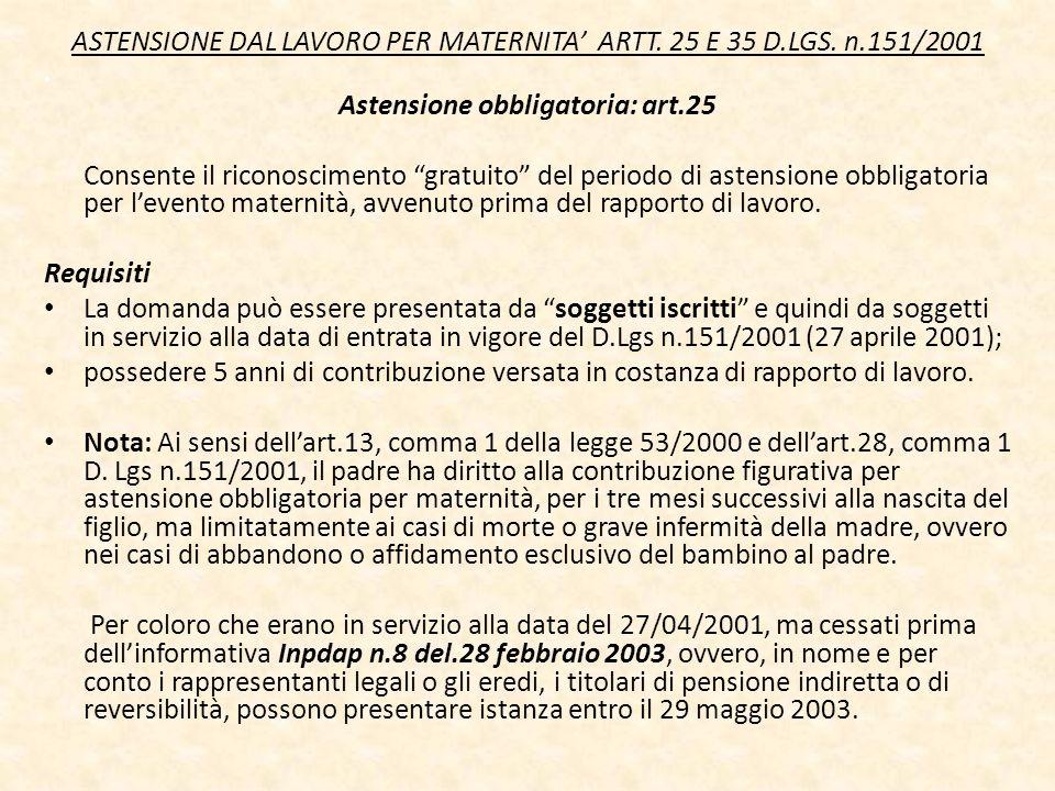 Astensione obbligatoria: art.25