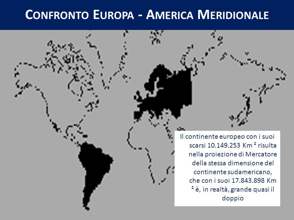 Confronto Europa - America Meridionale