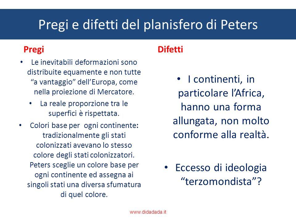 Pregi e difetti del planisfero di Peters