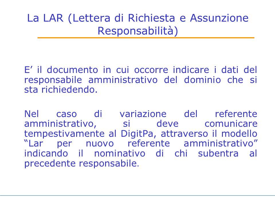 La LAR (Lettera di Richiesta e Assunzione Responsabilità)