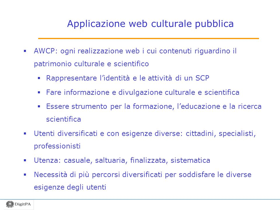 Applicazione web culturale pubblica