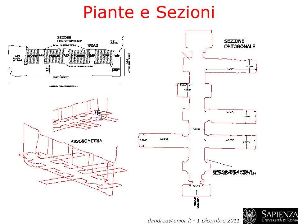 Piante e Sezioni dandrea@unior.it - 1 Dicembre 2011