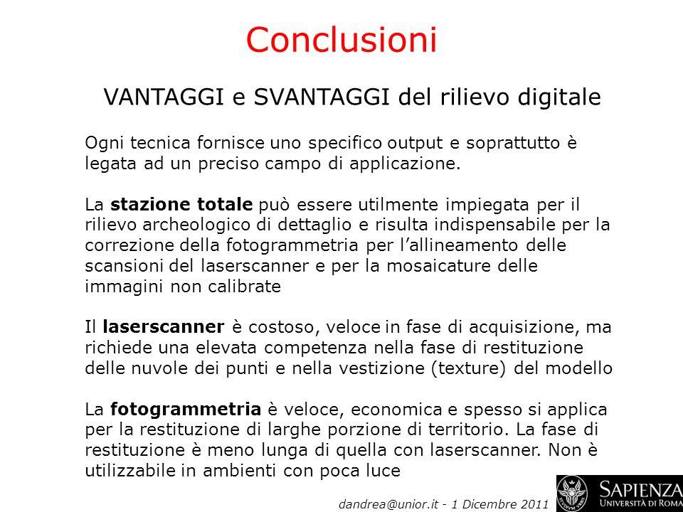 VANTAGGI e SVANTAGGI del rilievo digitale