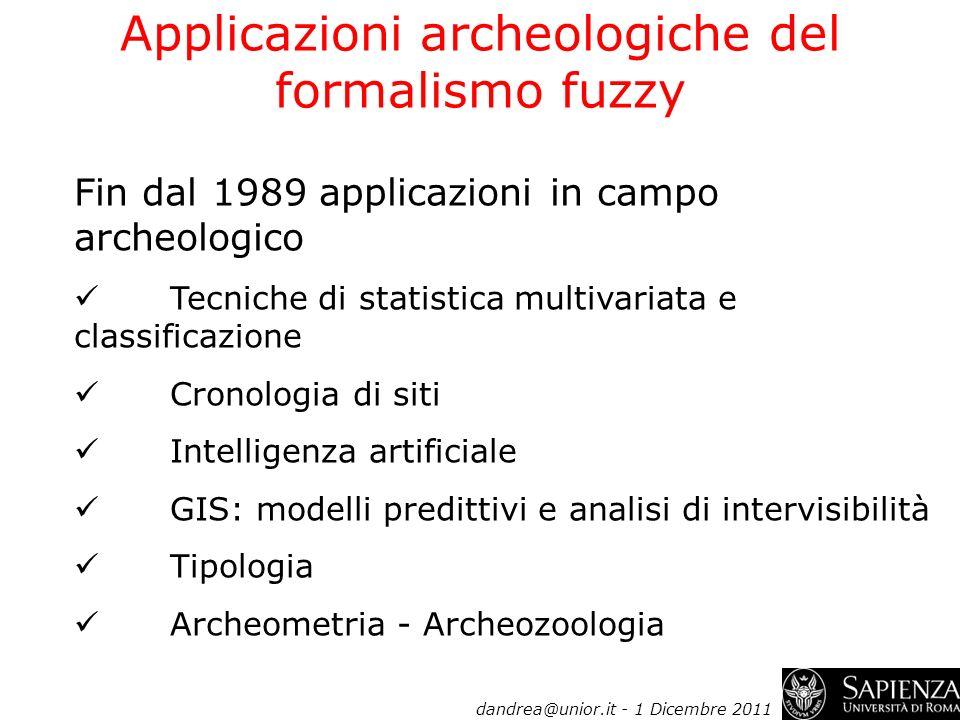 Applicazioni archeologiche del formalismo fuzzy
