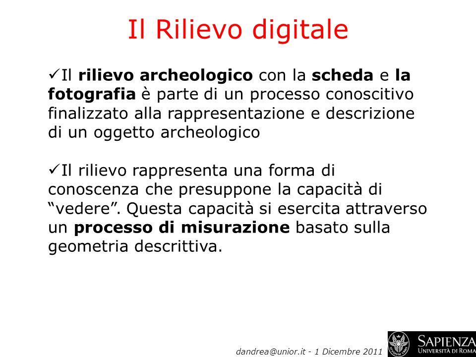Il Rilievo digitale