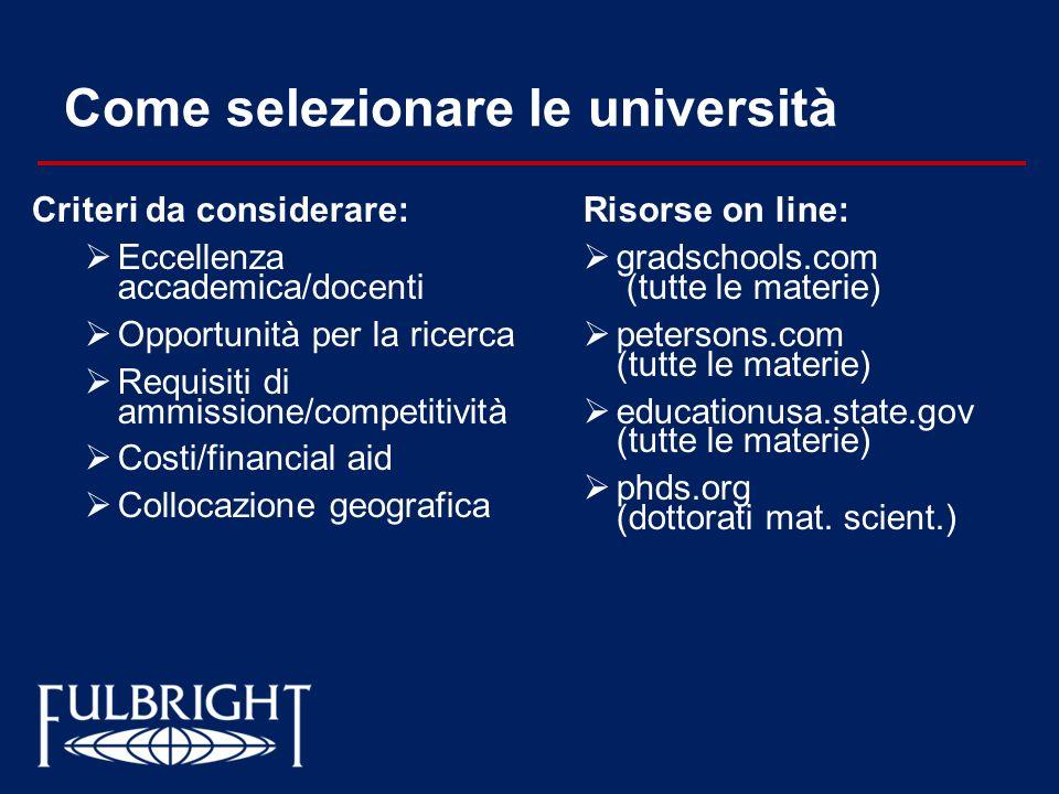 Come selezionare le università