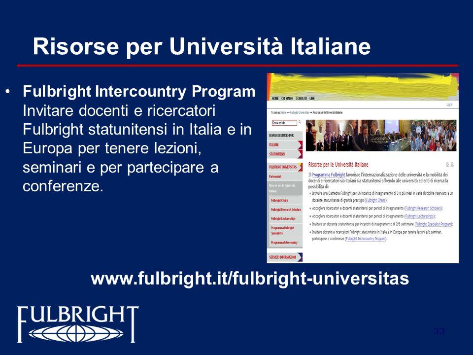 Risorse per Università Italiane