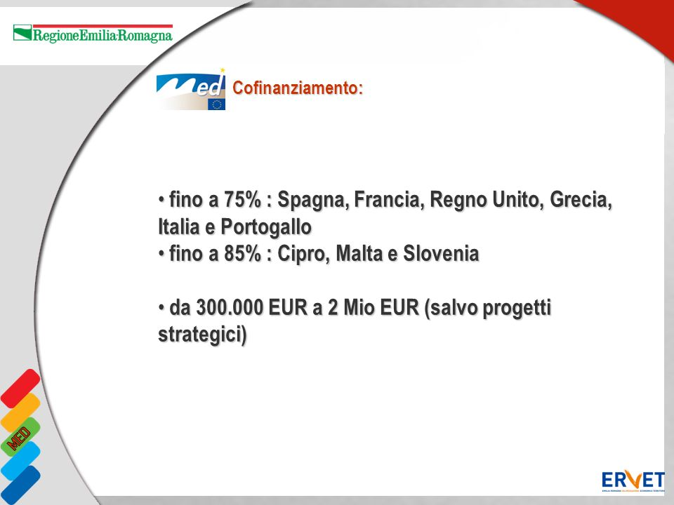 fino a 75% : Spagna, Francia, Regno Unito, Grecia, Italia e Portogallo