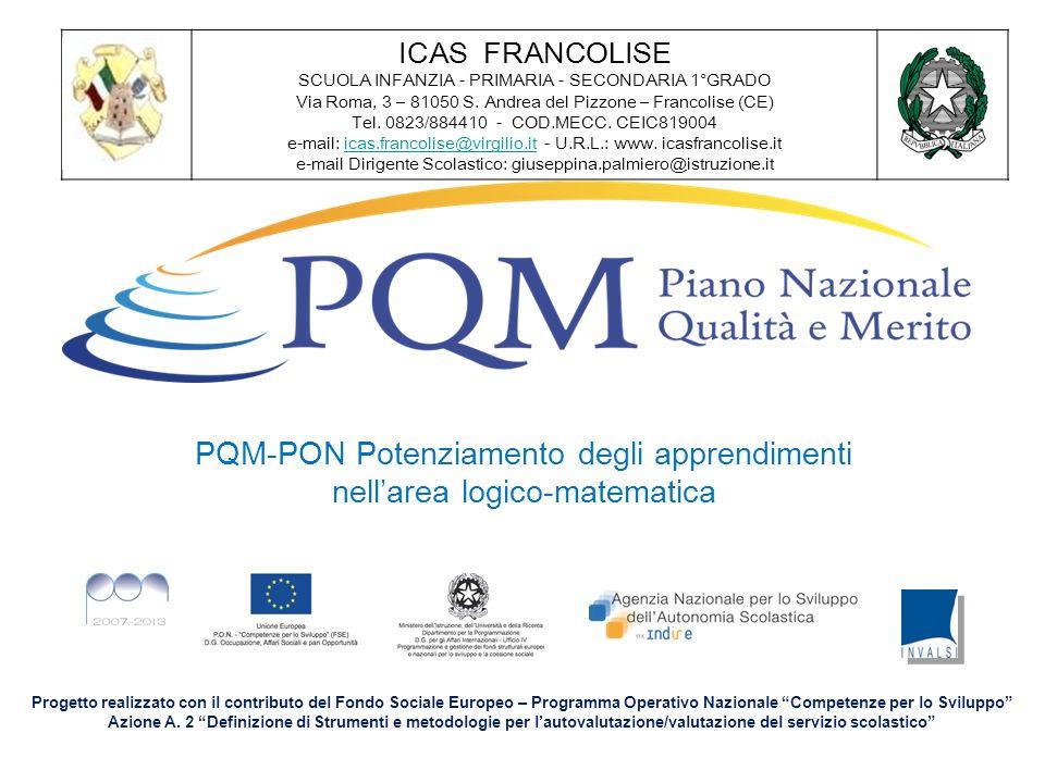 PQM-PON Potenziamento degli apprendimenti nell'area logico-matematica
