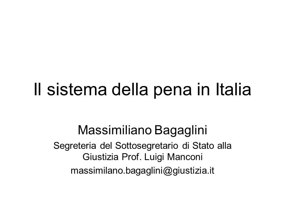 Il sistema della pena in Italia