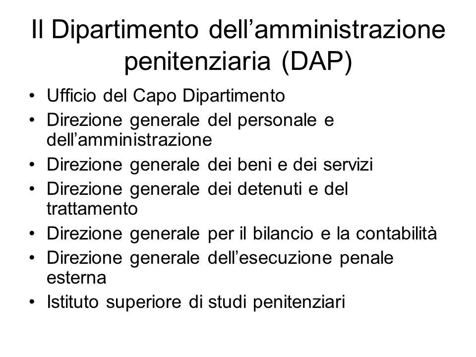Il Dipartimento dell'amministrazione penitenziaria (DAP)