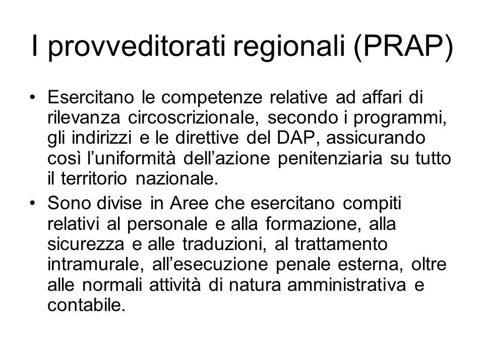 I provveditorati regionali (PRAP)